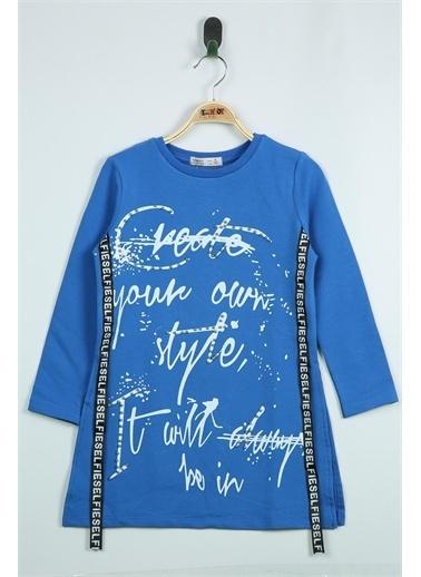Toontoy Kids Toontoy Kız Çocuk Yandan Şeritli Tişört Saks